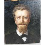 """Ecole Française XIX """" Portrait d'un archéologue"""""""