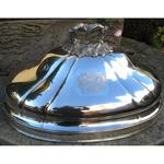 Important bell in silvery metal engraved(burnt) by coat of arms circa on 1880