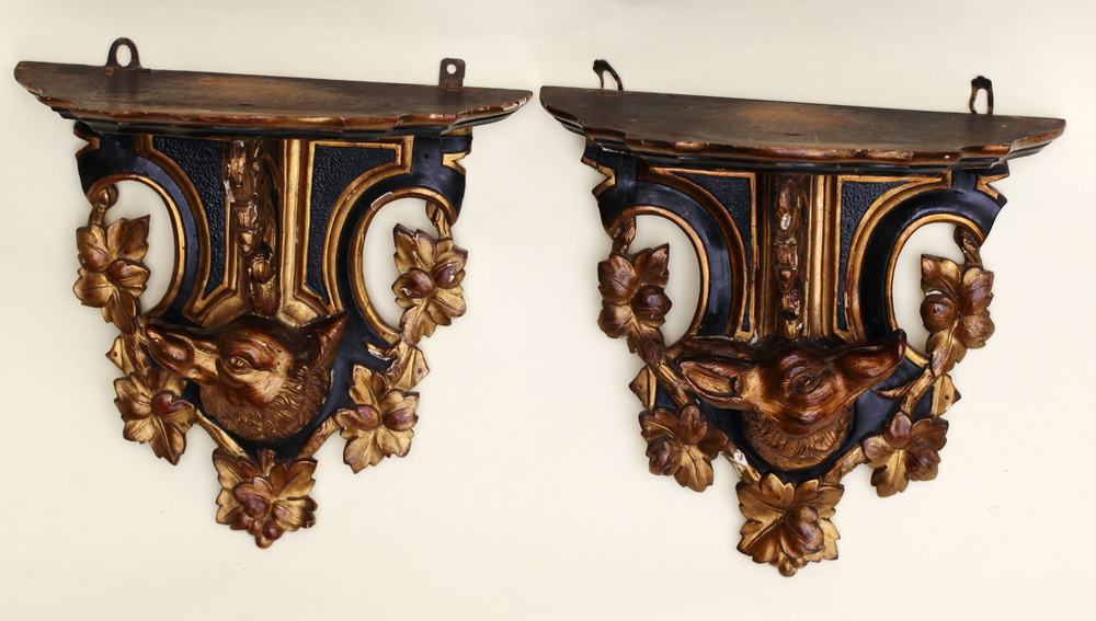 Pair of wall consoles circa 1880
