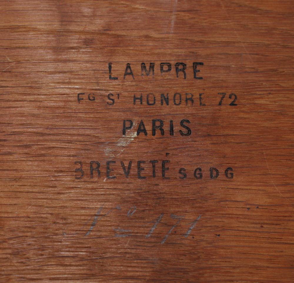 Table à jeu mouchoir 1870
