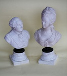 Porcelain biscuit Louis XVI and Marie Antoinette