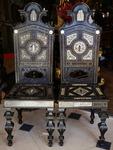 Paire de chaises Italie 1880