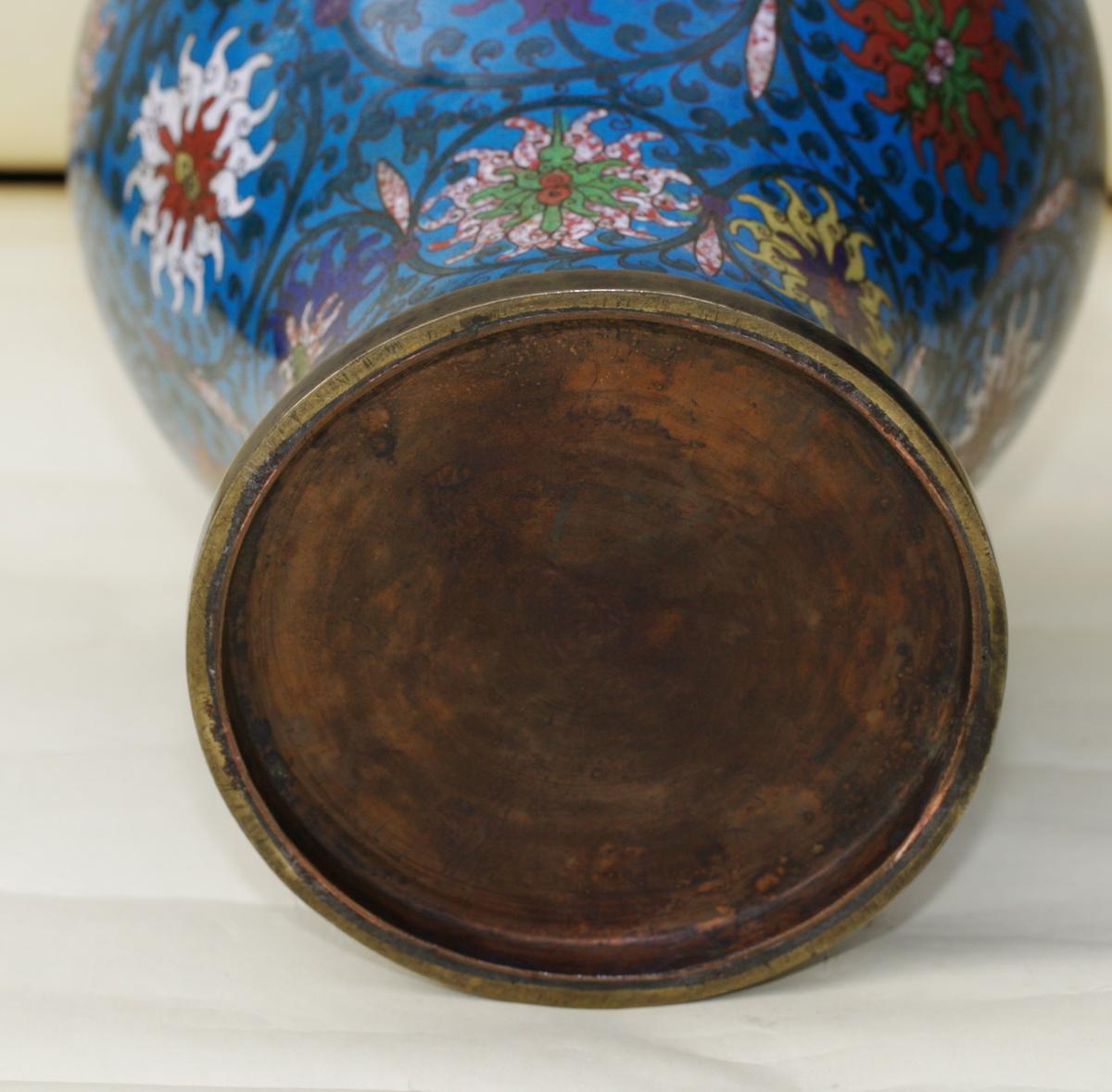 Assez de vases cloisonnés Chine XIX QL43