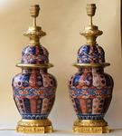 Paire de lampes imari fin XIX