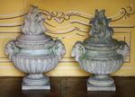 Paire de pots à feu style Louis XVI circa 1880