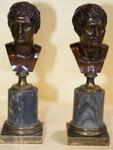 Paire de bustes Romains fin XVIII