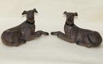 Dogs polychrome terracotta 1880