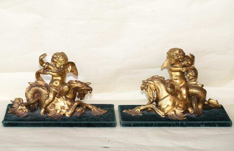 Pair of Regency bronze