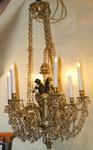 Louis XVI style chandelier late nineteenth