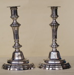 Pair of silver candlesticks XVIII
