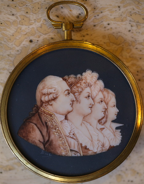 Miniature sur ivoire fin XVIII