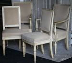 Chairs and armchairs circa 1800 Fontainebleau Castle