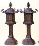 Paire de lanternes Chine ou Japon XIXème