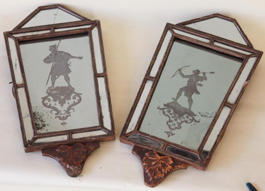 Paire miroirs applique