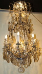 Silvered bronze chandelier cage late nineteenth