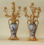 paire de candélabres porcelaine et bronze N.III