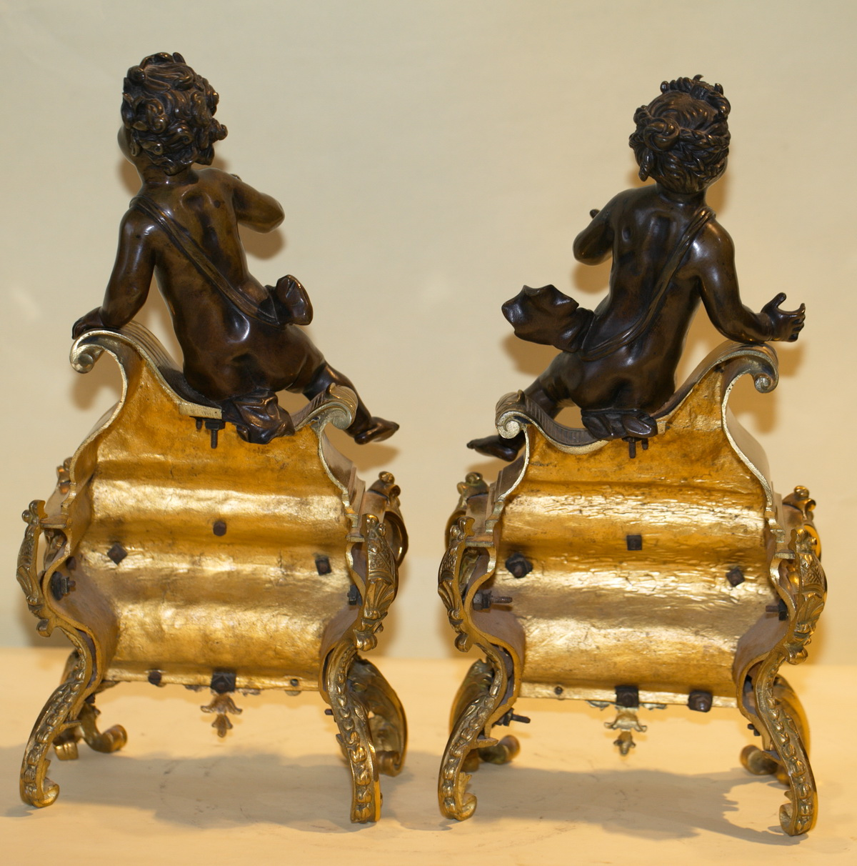 Pair of lamps, and in 1880 BOUHON Company