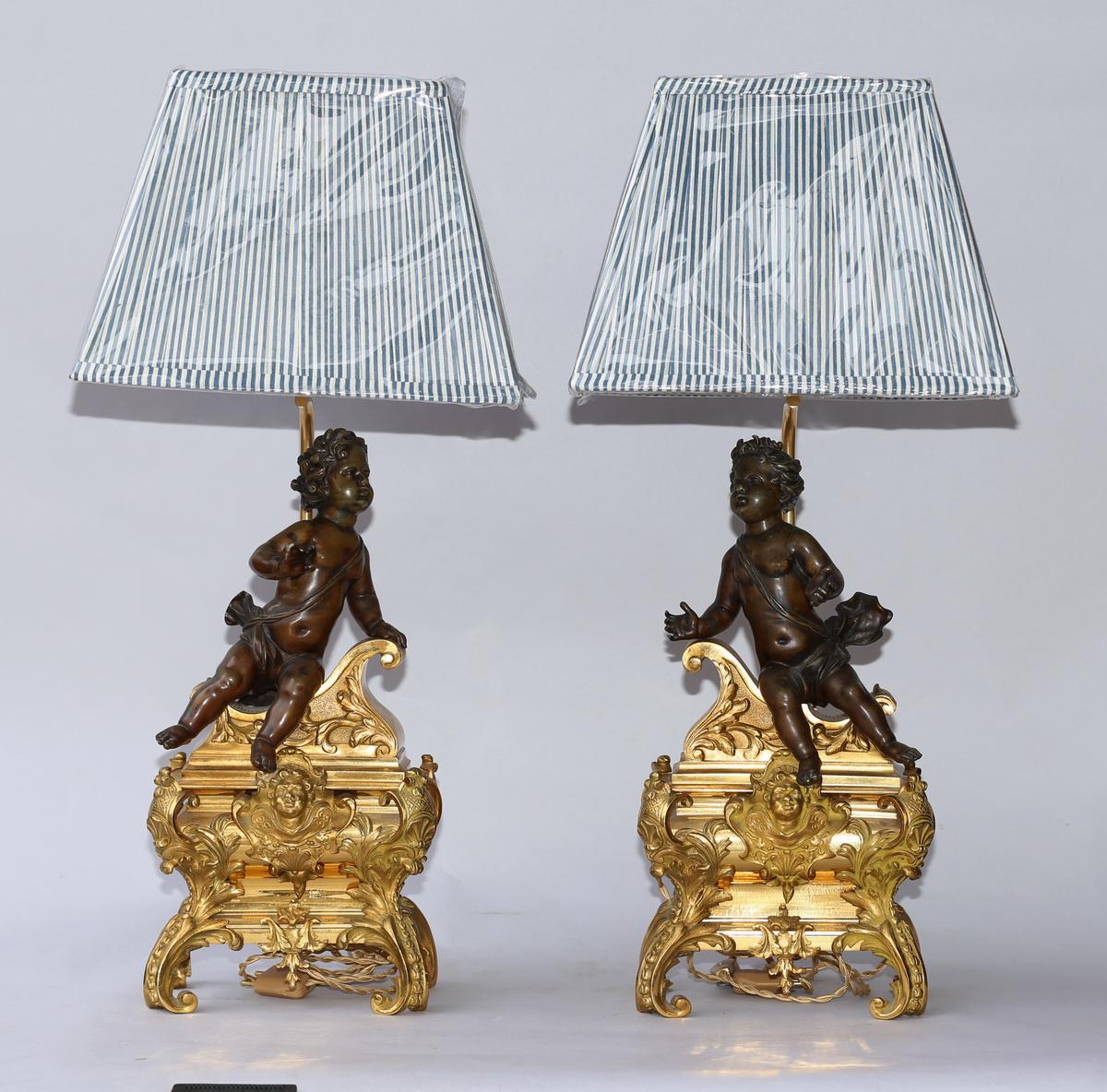 Paire de lampes, BOUHON et Compagnie 1880