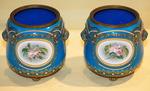 Pair of enamel pot caches Bresse circa 1850