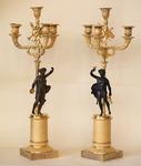 Paire de candélabres Charles X