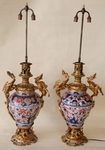 Pair of porcelain lamps 1880