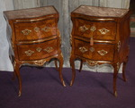 pair of commodes Napolitan 18th