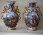 Pair of porcelain vases circa 1850