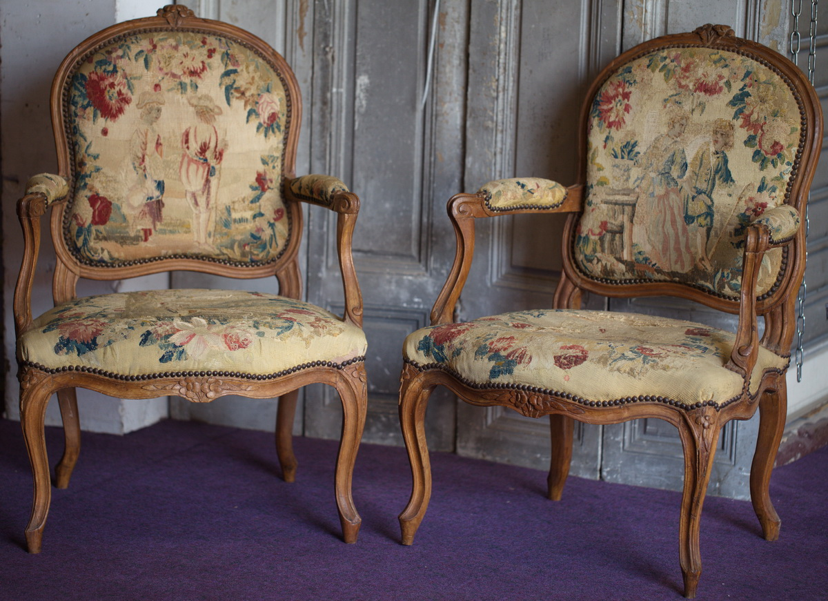 suite de 4 fauteuils la reine poque louis xv. Black Bedroom Furniture Sets. Home Design Ideas
