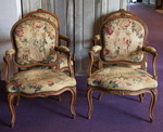 set of 4 chairs Louis XV Queen