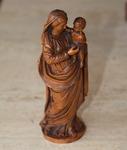 Vierge à l'enfant en buis XVIII