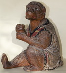 Carved wooden monkey circa 1880