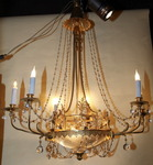Neoclassical style chandelier circa 1920