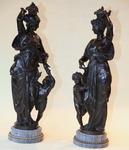 Paire de sculptures en bronze