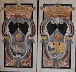 Paire de plaque armoriées époque XVIII