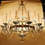 18 lights chandelier circa 1940