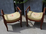 Pair of stools 19th