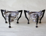 Pair of table silver stoves circa 1810