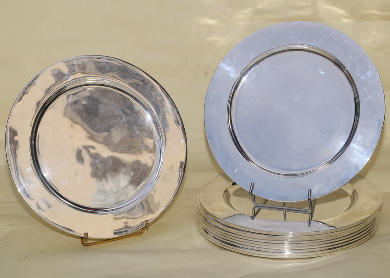 Silver charger plates XX