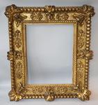 Cadre en bois doré époque XVIII