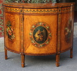 A late VICTORIAN Demi-Lune commode