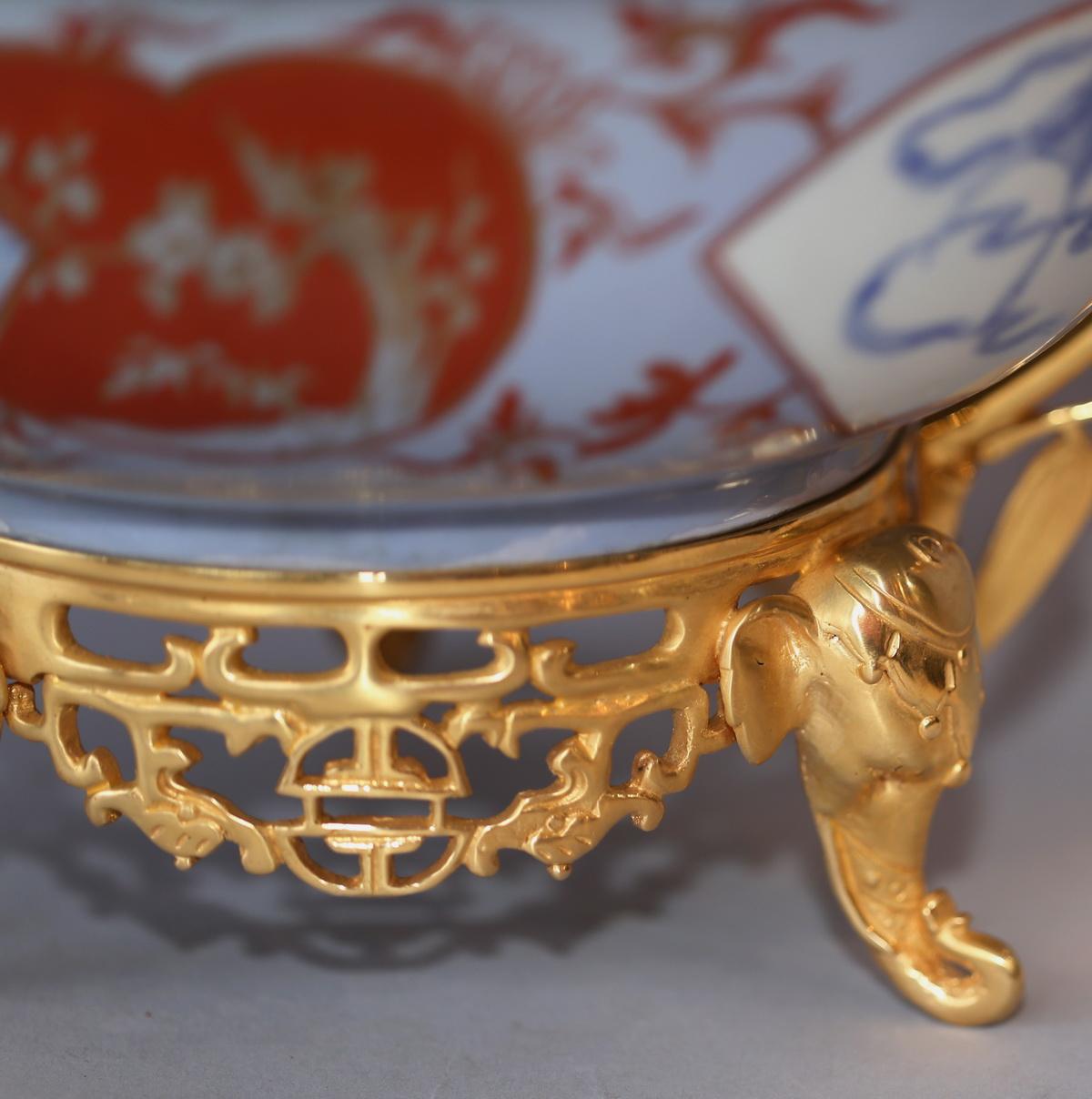 Porcelaine Imari monture bronze doré fin XIX