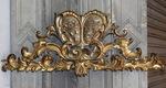 Fronton gilded wood XVIII