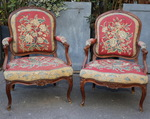 Pair of armchairs Louis XV