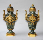 Pair of vases covered Regency
