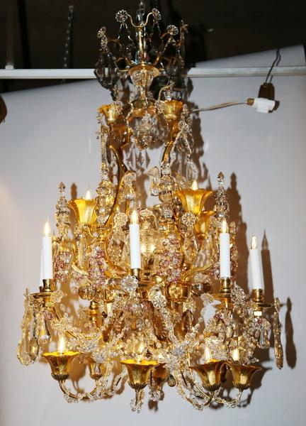 Lustre de style Louis XV fin XIX ème
