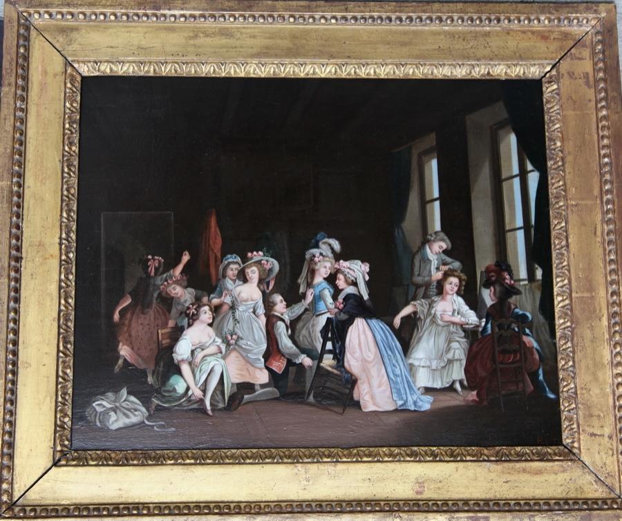 H de TOYA Ecole Française fin XVIIIème