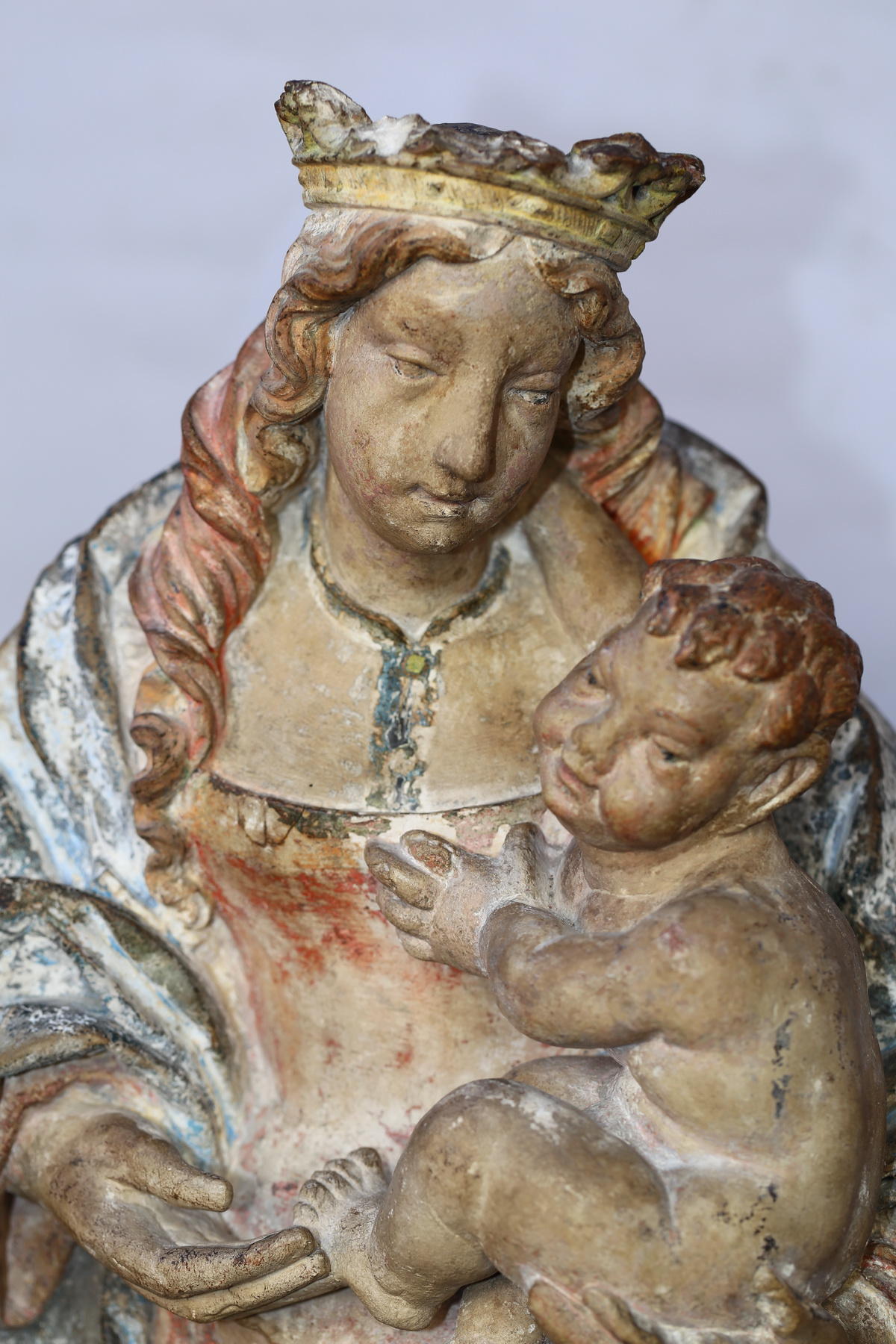 Madonna carved stone 16th