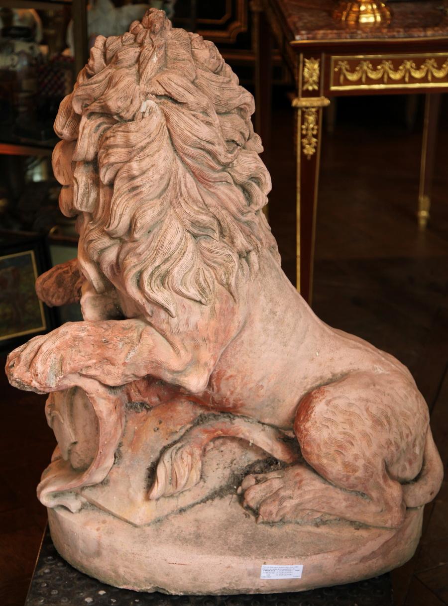 Lions Terre cuite 1880
