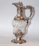 Crystal and silver ewer