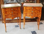 Pair of Louis XV style chiffonier tables 19th